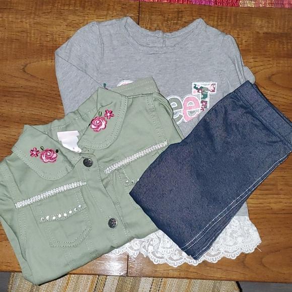 Jacket, shirt, and leggin set